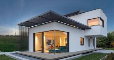 Elegancia funcional: Concepto de Casa Contemporanea con una perfecta seleccion de detalles en su fachada